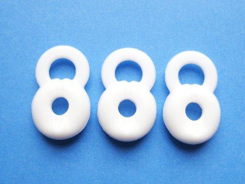3 Medium Weiß Ersatz Stay-In-Ear Ohrstöpsel für Jawbone Icon HD und Jawbone Prime 1 2 3 Bluetooth Headset