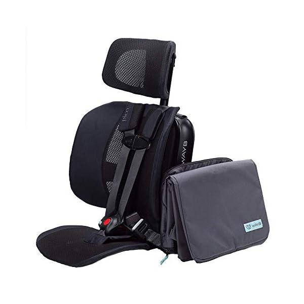 WAYB Pico Travel Car Seat and Travel Bag Bundle, Black | Portable and Foldable |...