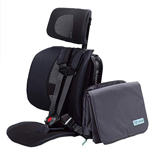 WAYB Pico Travel Car Seat and Travel Bag Bundle, Black | Portable and Foldable | Forward-Facing Convertible Car Seat | Toddler Car Seat | 5-Point Harness | Everyday, Carpool, Rideshare and Airplane