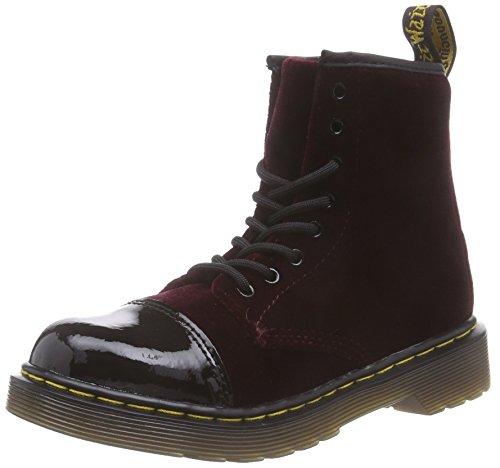 Dr. Martens POOCH Ze You Velvet CHERRY, Unisex-Kinder Boots, Rot (Cherry Red), 29 EU (11 Kinder UK)