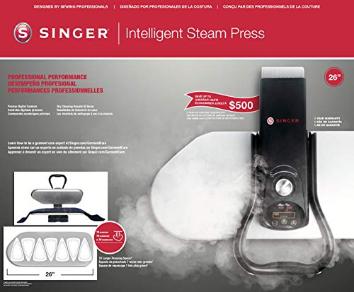 SINGER Intelligent Steam Press-26, 66 cm, grigio