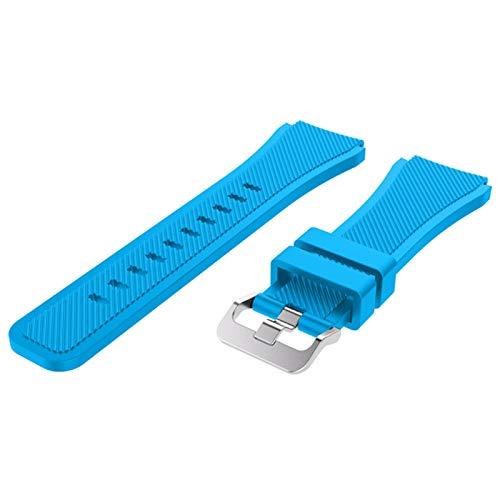 ZXF Correas Reloj Silicona 22 Sport Watch Strap Wamkband Sport Loop Band Smart Watch Correa de reemplazo Hombre y Mujer (Band Color : Sky Blue, Band Width : 22mm)