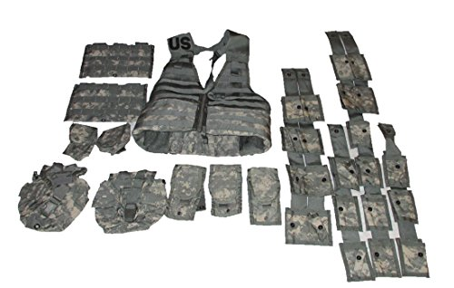 US Military ACU Tactical ACU Camo FLC LBV Molle II Fighting Load Carrier Vest Rifleman & Grenadier Sets