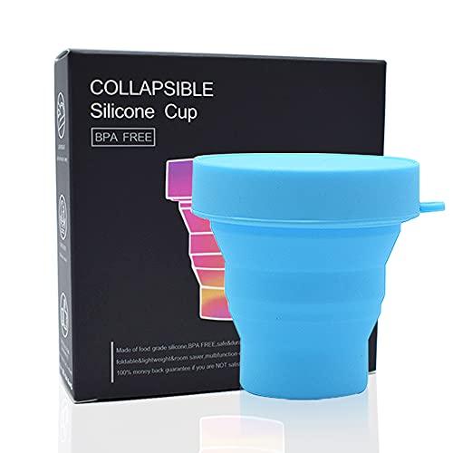 Esterilizador Plegable Azul para Copa Menstrual - 100% Silicona de Grado Médico Reutilizable Con o Sin Microondas - Adecuada para Todo Tipo de Copas