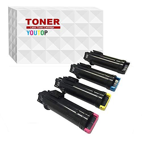 YOUUDING h625 toner - Cartucho de tóner para impresoras láser DELL H625/H825/S2825, 4 Colores (1 Negro, 1 Cian, 1 Amarillo, 1 Magenta)