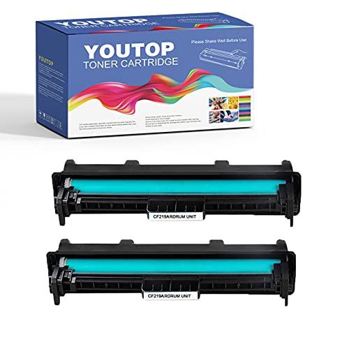 YouTop 2 tambores 19A CF219A para impresoras HP Laserjet Pro M102a M102w, MFP M130fn M130fw M130nw M130a (12.000 páginas)