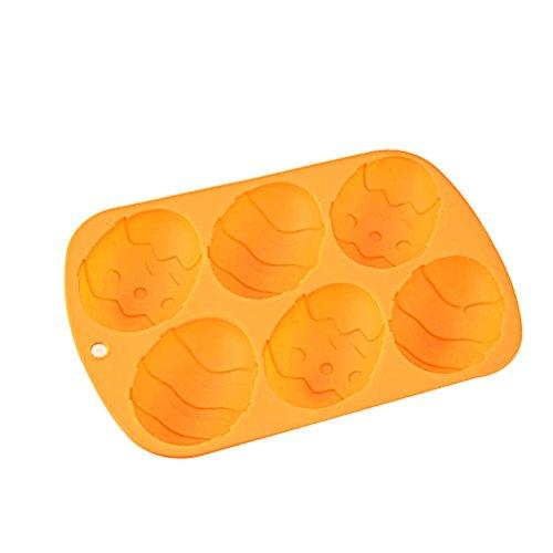 OUNONA Stampi per torte in silicone a forma di uovo di Pasqua in Arancione