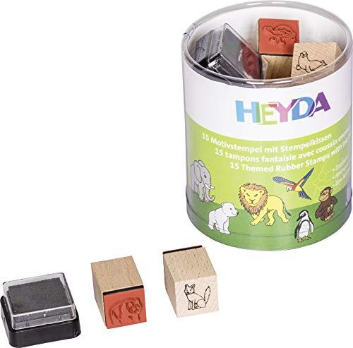Heyda 204888491 Heyda 204888491 Stempel-Dose (Zoo-Tiere) Motivgröße: ca. 1,5 x 1,5 cm