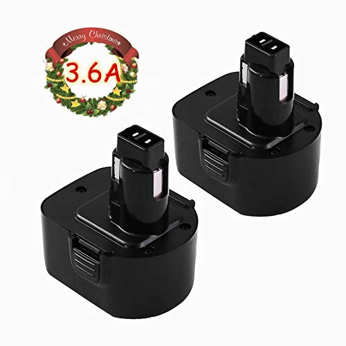 Upgraded to 3600mAh Ni-Mh DC9071 Replacement for Dewalt 12V Battery XRP DW9072 DW9071 DE9074 DE9037 DE9071 DE9072 DE9075 Cordless Power Tool - 2 Packs