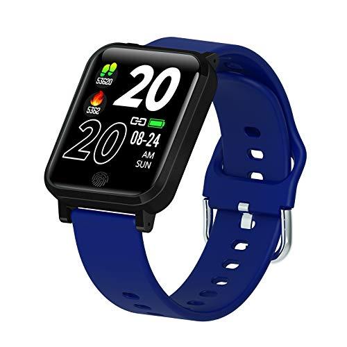 Fitness Smartwatch Pantalla HD,con Temperatura Corporal Ritmo Cardiaco Monitor De Presión Arterial Rastreador De Actividad para Android iOS,Hombre Mujer Reloj Deportivo IP67 Impermeable-Verde