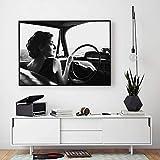 mmwin Modulaire Image Surréaliste Concept Homme avec Nuage Noir Blanc Drive Fille...