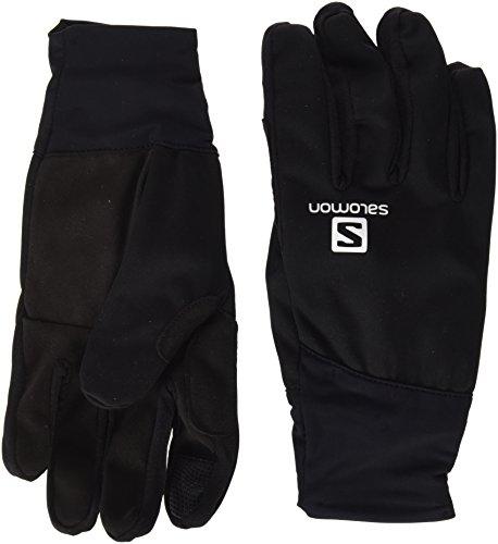 Salomon L39504600, Gants de Ski Nordique pour Homme, Adaptés aux Écrans Tactiles, Equipe Glove M, Taille: XS, Noir