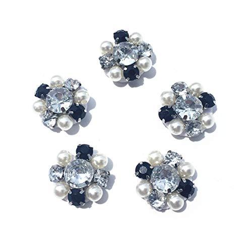 JINAN Paquete de 10 piezas de parches con cuentas de cristal y diamantes de imitación, para decoración de vestido de novia, bolsa de zapatos