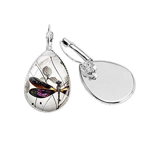 Pendientes De Clipear Clip Tear Drop Earring Handmade Jewelry Earrings Para Mujer-A