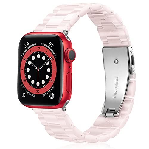 Pulsera de eslabones para Apple Watch 40mm 44mm Band Series Se Correa para Iwatch Se 38mm 4mm Bandas Mujeres Hombres