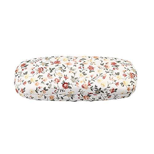 AchidistviQ Retro Tragbare Blume Brillenetui Box Wasserdichte Brillen Aufbewahrungsbox White
