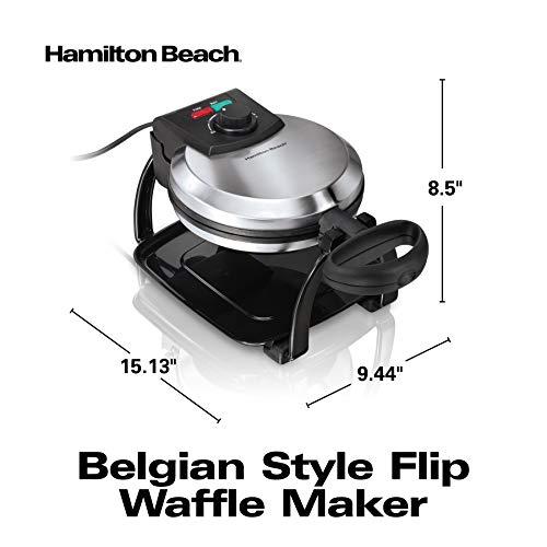 Gaufrier de Style Belge Hamilton Beach,  en Acier Inoxydable - Modèle 26010C - 3