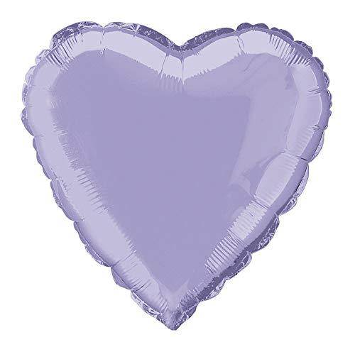 18' Foil Lavender Heart Balloon