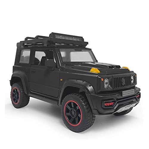 GEBAN Vehículo a Escala para su & zukijimny 1:18 Escala Black 2018 SUV Modelo de Juguete de automóvil Aleación de Metal Diecast Toy Vehicle Modelo de Juguetes para niños Niños