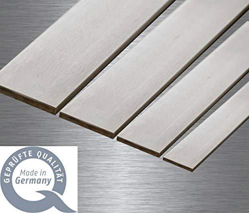Werkzeugstahl - Messerstahl 1.2842 (90MnCr) Klingenstahl 41X3mm (Karbonstahl, 100x41x3mm)