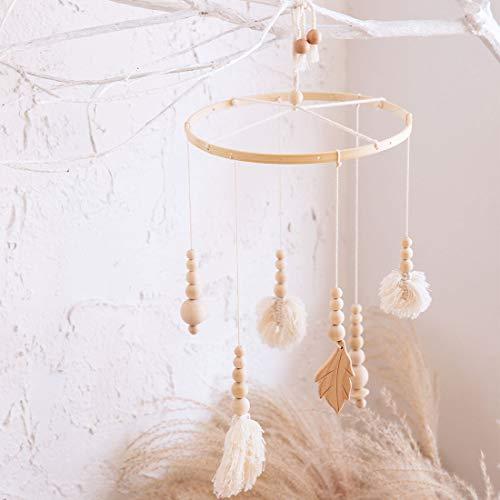 Laten we maken Creatieve Bed Bell Houten wieg Wind Chim Baby Mobiele Nordic Stijl Muurdecoraties wieg Tent Kamer Ornament Pasgeboren Gift 19DZ021#4@HJ