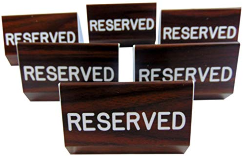Reserved Sign for Church Pew Multipack with Duel Sided Script and Easy Clamp On Attachment, Set of 6