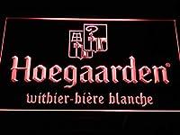 Hoegaarden Belgium Beer Bar LED看板 ネオンサイン ライト 電飾 広告用標識 W40cm x H30cm レッド