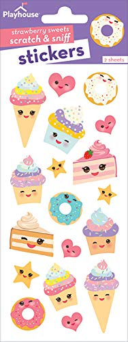 Playhouse Kawaii Kitchen Strawberry Scented Scratch & Sniff Sticker Sheets