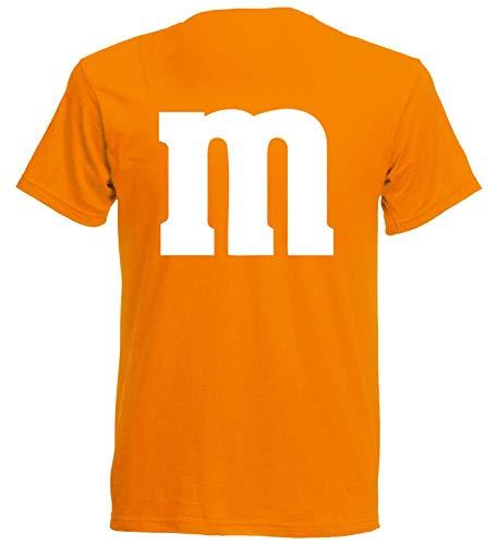 aprom Camiseta para carnaval, talla M, disfraz de grupo naranja M