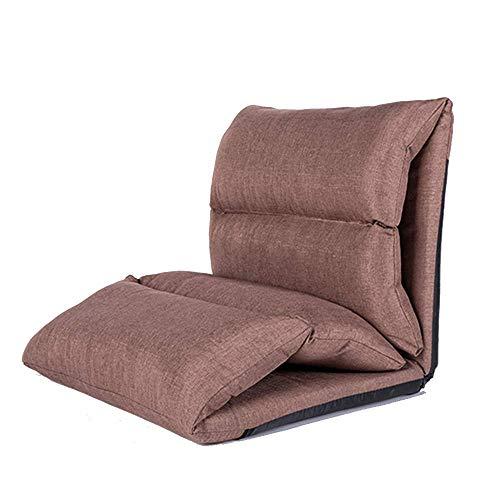 LIX-XYD Sillón reclinable Plegable Silla Perezosa del sofá Ajustables al Piso Respaldo Silla Butaca de Juego (Color: Rojo) (Color : Brown)