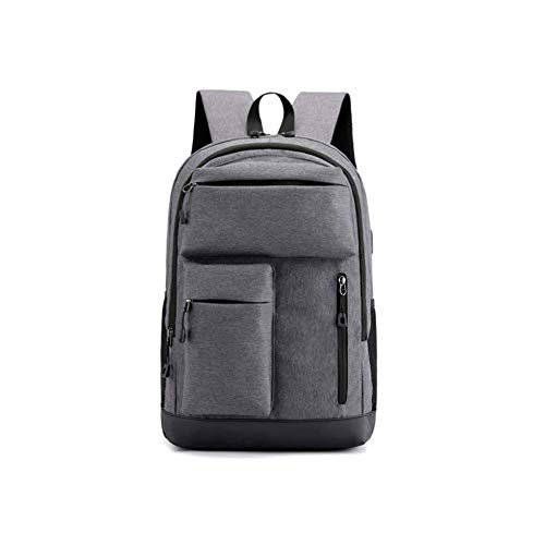 WLP-WF Backpack Leisure Fashion Outing Rucksack Outdoor Men Women Sports School Student College USB Waterproof Luggage Bag Lightweight,Gray,30L,Dark Gray