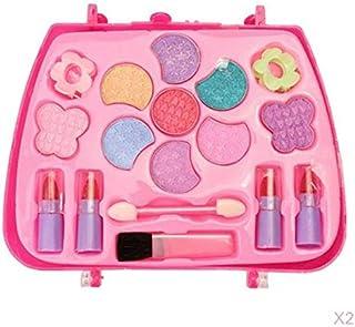 koolsoo Set of 2 Children's Make-up Set Princess Girl Cosmetic Case Make-up Set for