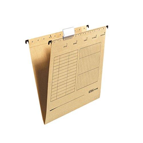 Herlitz 10843357 Hängemappe A4, Kraftkarton verpackt seitlich offen, 25 Stück