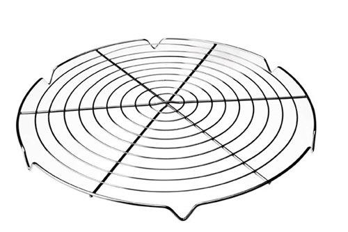 Rejilla enfriatartas redonda 30cm (Acero cromado) Material : Acero cromado Diámetro : 30 cm Apto para horno y lavavajillas. Garantía : 2 años