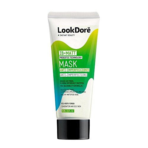 Lookdoré IB+Matt Mascarilla Puntos Negros - Arcilla Verde y Arcilla Blanca - Tratamiento Acné y Piel Grasa - Anti Imperfecciones