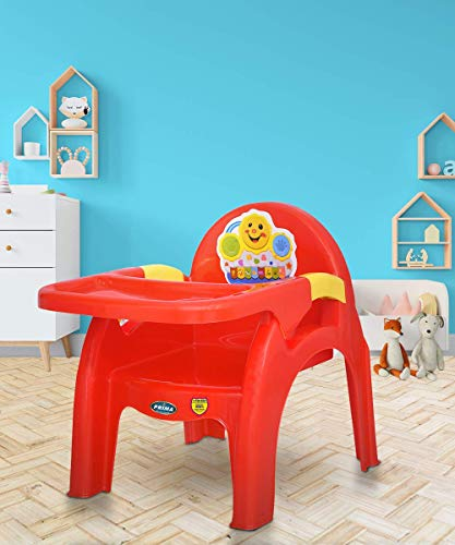 Prima Detachable Baby Desk Plastic Chair 130   Swings   High Chair   Eating   Feeding   Study   Kids   Toddlers Booster Seat with Safety Tray for 6 Months to 5 Years Age Kids