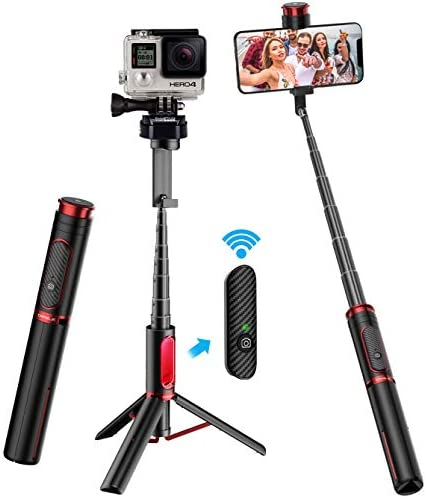 Selfie Stick Tripod CAFELE All in One Extendable Tripod Stand with Detachable Bluetooth Remote product image