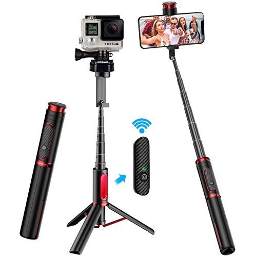 CAFELE Bluetooth Selfie Stick Stativ - Stange Stab mit Fernbedienung - Handy Stative für Smartphone, All-in-one Tripod für iPhone, Samsung, Huawei, Android, Gopro Kamera
