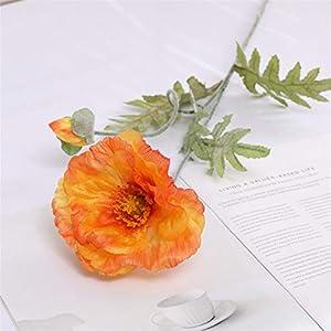 TRRT Fake Plants Artificial Poppy Flowers, DIY Silk Fake Flower, Wedding Christmas Party Home Decoration Fake Flower