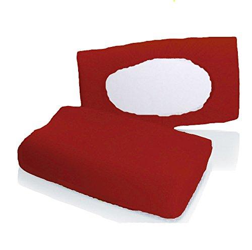 Bellana Gesundheitskissen Bezug Mako Jersey 30-50 x 40-80 cm und 8-15 cm Höhe cm Farbe: Rubin