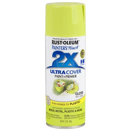 Rust-Oleum 249104 Painter's Touch 2X Ultra Cover, 12 Oz, Gloss Key Lime