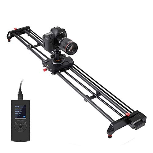 """GVM Great Video Maker Camera Motorized Slider,48""""/120CM,Automatic Round Trip,Time Lapse,Panoramic Shooting,Video Capture,Slider Smooth and Stable,with Battery"""