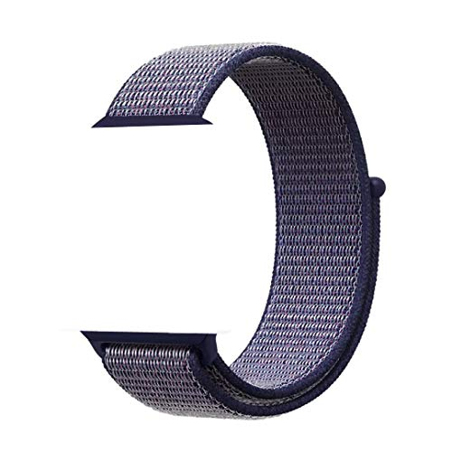 XIHAMA - Cinturino di Ricambio in Nylon Compatibile con Orologi da 38 mm / 40 mm / 42 mm / 44 mm, Cinturini per iWatch Serie 5 4 3 2 1 (42mm/44mm, Midnight Blue)