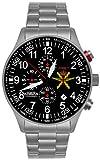 Astroavia FN57 - Orologio da polso con cronografo, al quarzo, cinturino in acciaio INOX, stile militare