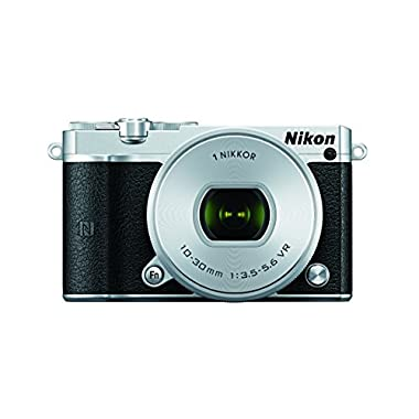 Nikon 1 J5 Mirrorless Digital Camera w/10-30mm PD-ZOOM Lens (Silver)
