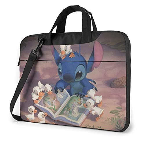 Cartoon Laptop Bag 13 14 15.6 Inch Briefcase Shoulder Menger Bag Shoproof Carrying Case with Organizer for Men Women, Busin Travel