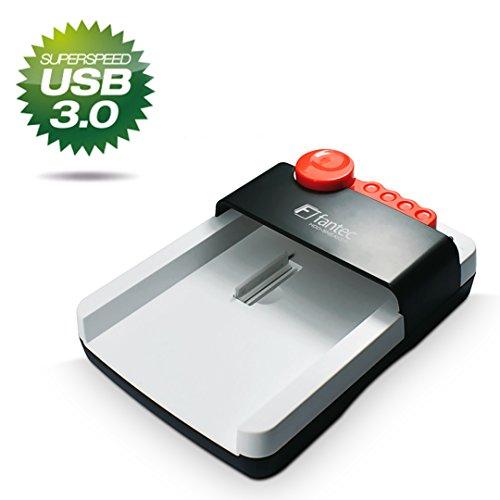 FANTEC HDD-Sneaker Dockingstation (für 6, 35 cm (2, 5 Zoll) und 8, 89 cm (3, 5 Zoll) SATA i/II/III Festplatten und SSDs, USB 3.0 SuperSpeed Anschluss) Weiss