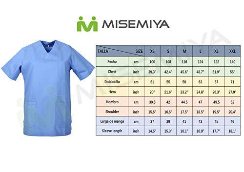 MISEMIYA – Casaca SEÑORA Mangas Cortas Uniforme Laboral CLINICA Hospital Limpieza Ref:8171