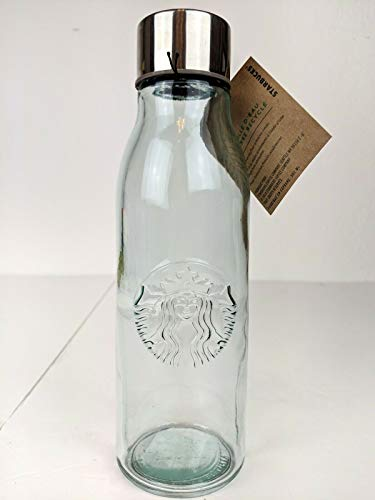Glass Water bottle Recycelt