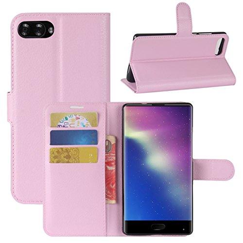 HualuBro Funda Doogee Mix, [Protección Todo Alrededor] Premium PU Cuero Leather Billetera Wallet Carcasa Case Flip Cover para DOOGEE Mix 5.5'' 4G Smartphone